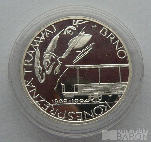 200 Kč(1994-Koněspřežka), stav PROOF, etue a certifikát