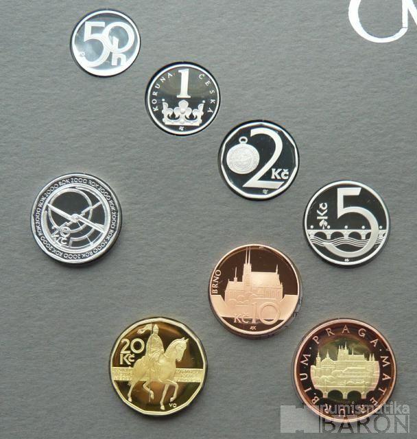 Ročníková sada oběžných mincí ČR (2004), stavy PROOF