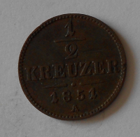 1/2 Krejcar 1851 A