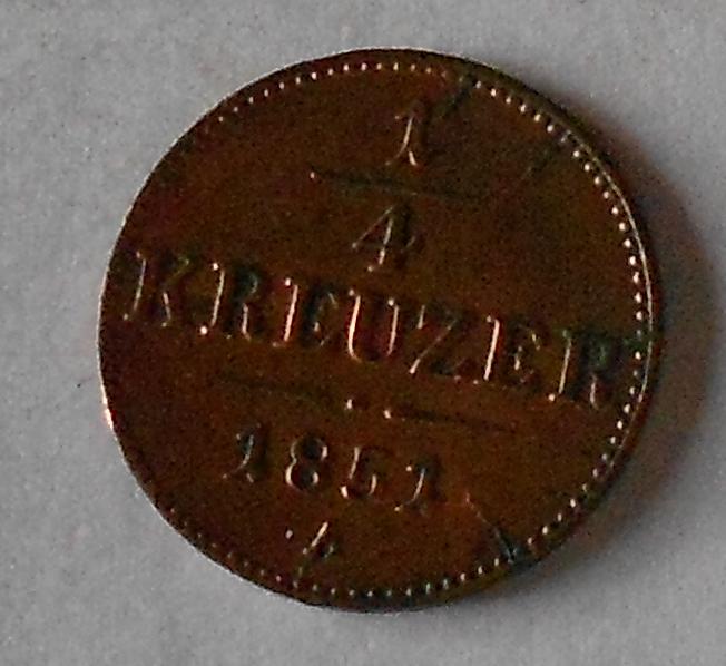 1/4 Krejcar 1851 A