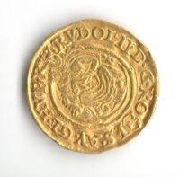 1 Dukát(1598-Au-3,44g), stav 1/1, ražba KB, Rudolf II.
