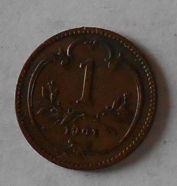 1 Haléř 1901