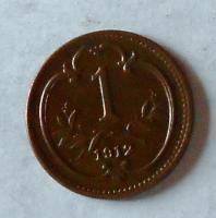 1 Haléř 1912 stav