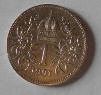 1 Koruna 1901 pěkná