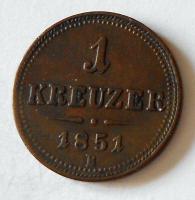 1 Krejcar 1851 B