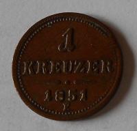 1 Krejcar 1851 E