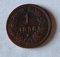 1 Krejcar 1858 V