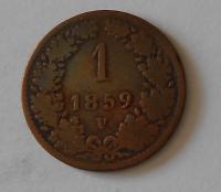 1 Krejcar 1859 V