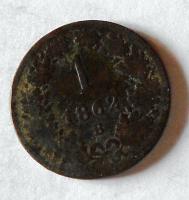 1 Krejcar 1862 B