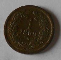 1 Krejcar 1869 KB