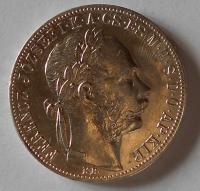 1 Zlatník/Gulden 1886 KB stav