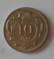 10 Haléř 1909 stav