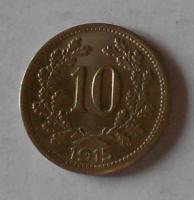 10 Haléř 1915 stav