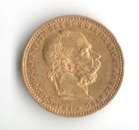 10 Koruna (1909-Au 900-3,4g-ražba bz), stav 1+/0 hr.
