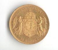 10 Koruna(1910-Au 900-3,4g-ražba KB), stav 1/1 hr.