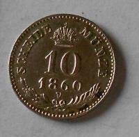 10 Krejcar 1860 V