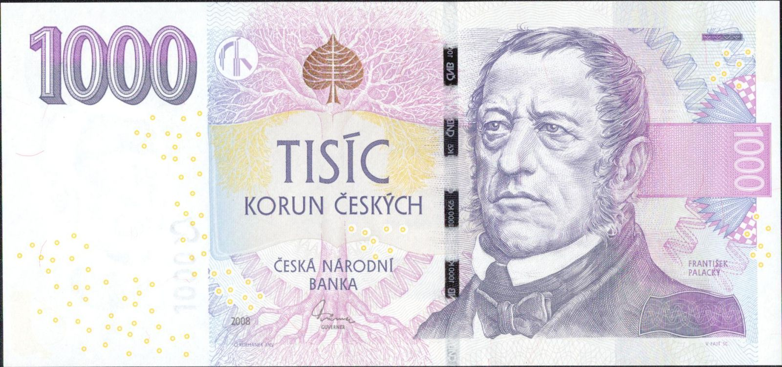 1000Kč/2008/, stav UNC, série J38