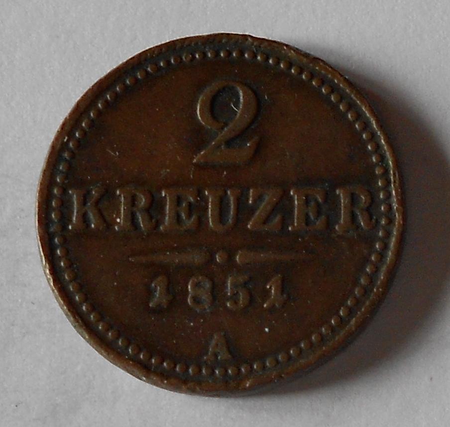 2 Krejcar 1851 A