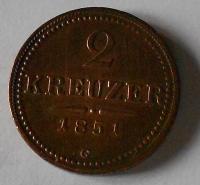 2 Krejcar 1851 G