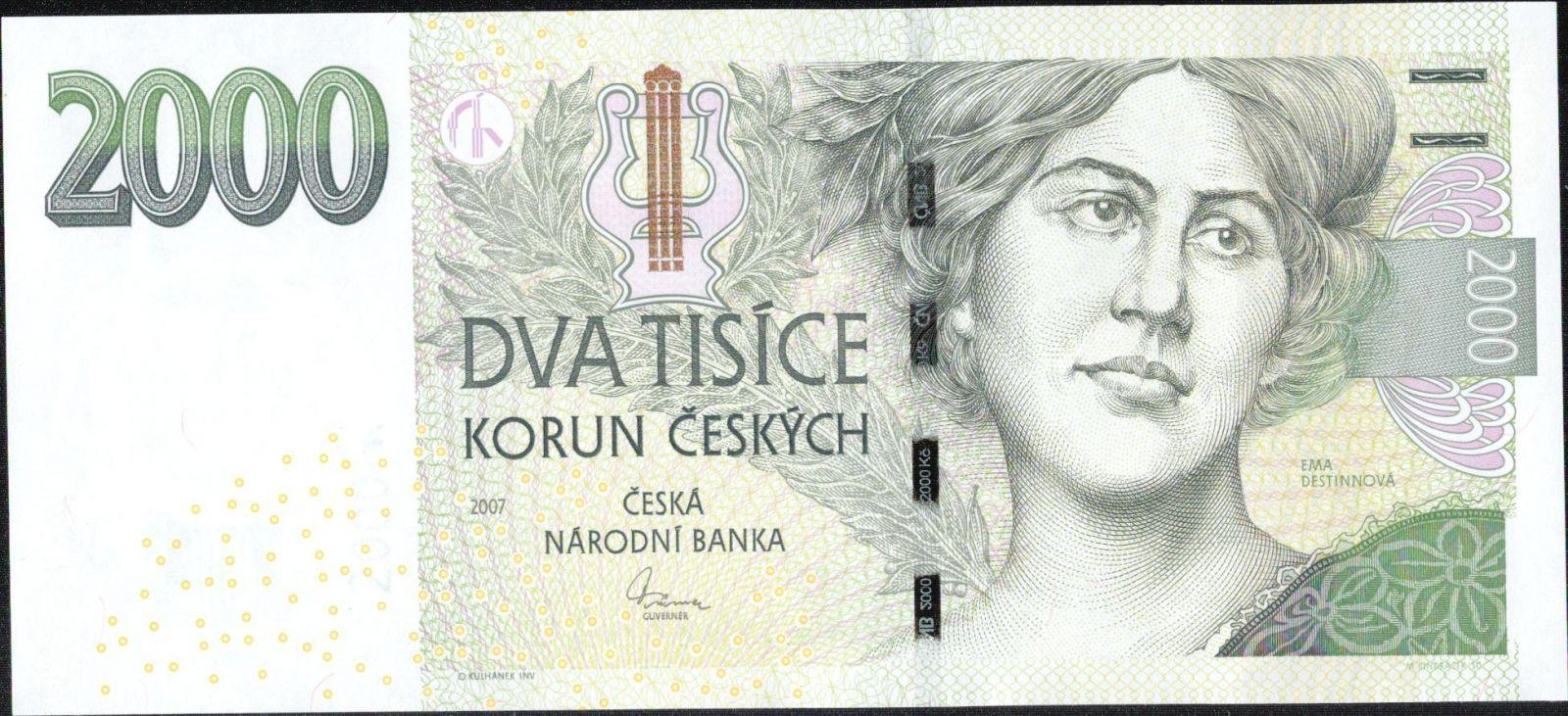 2000Kč/2007/, stav UNC, série K 04