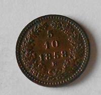 5/10 Krejcar 1858 B