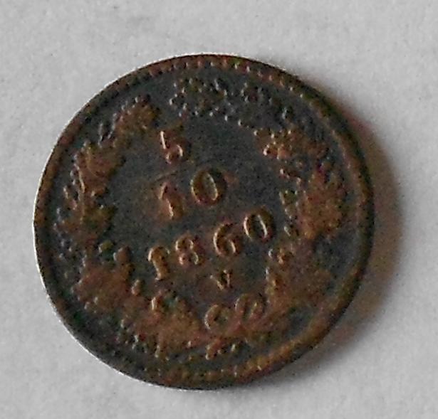 5/10 Krejcar 1860 V