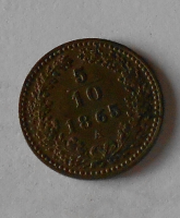 5/10 Krejcar 1865 A