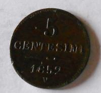 5 Centesimi 1852 V