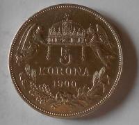 5 Koruna 1900 KB pěkná
