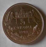 5 Koruna 1909 KB stav