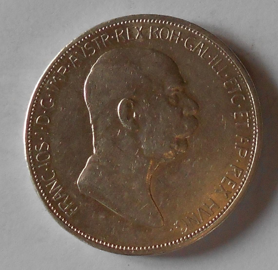 5 Koruna 1909 Marshall pěkná