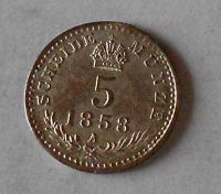 5 Krejcar 1858 A