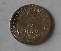 5 Krejcar 1858 V