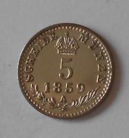 5 Krejcar 1859 A pěkný