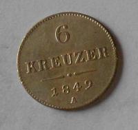 6 Krejcar 1849 A stav