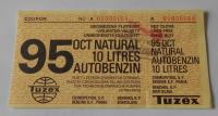 ČSSR Tuzex 10 Litrů benzínu