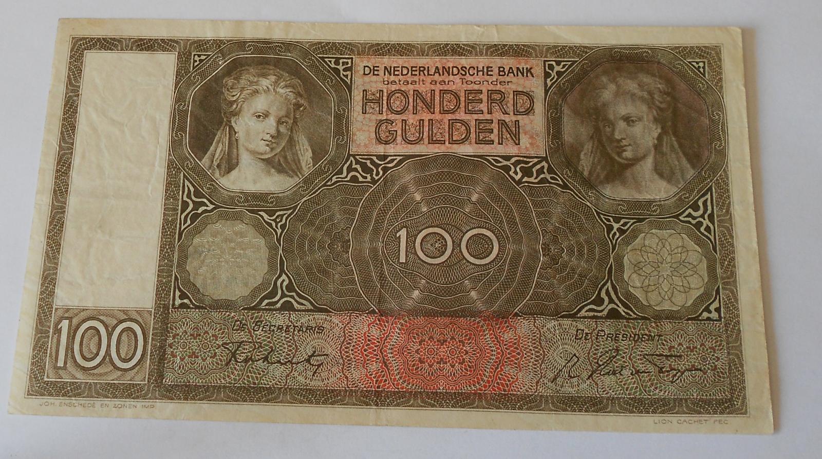 Holandsko 100 Gulden 1942