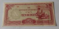 Japonsko 10 Rupie Vojenská poukázka