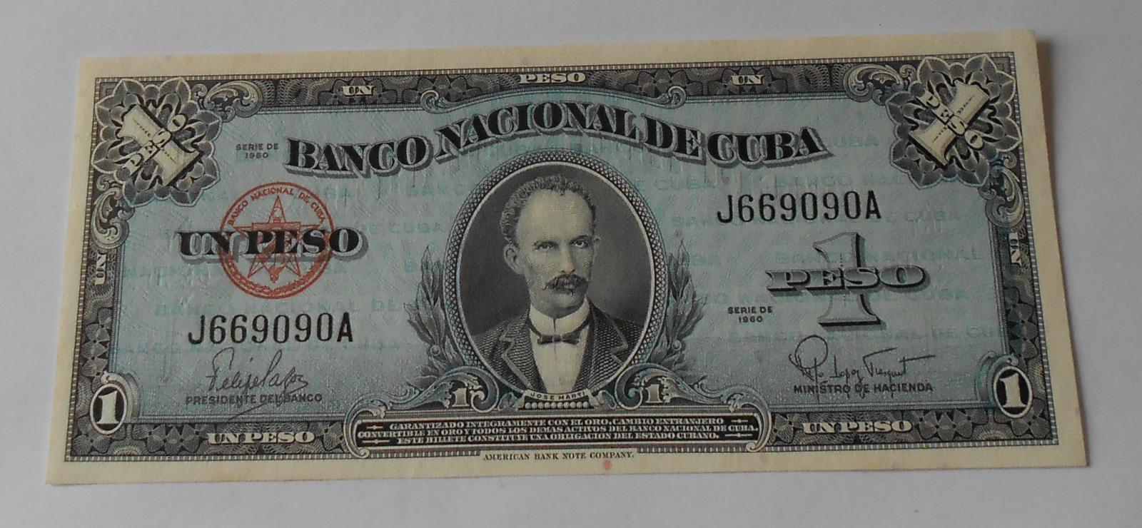Kuba 1 Peso 1960