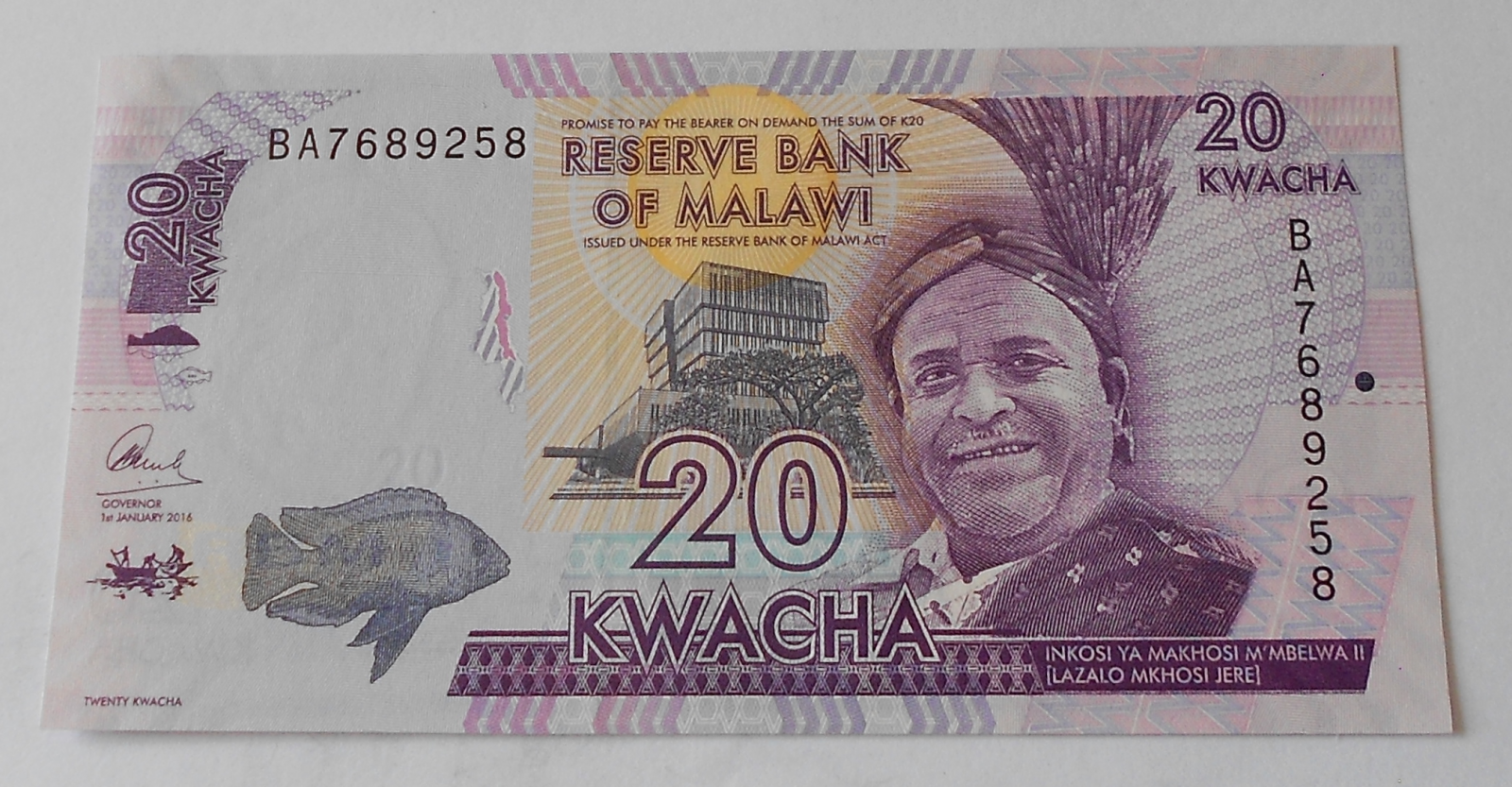 Malawi 20 Kwacha 2016