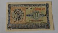 Řecko 10 Drachem 1940