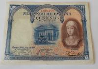 Španělsko 500 Peseta 1927