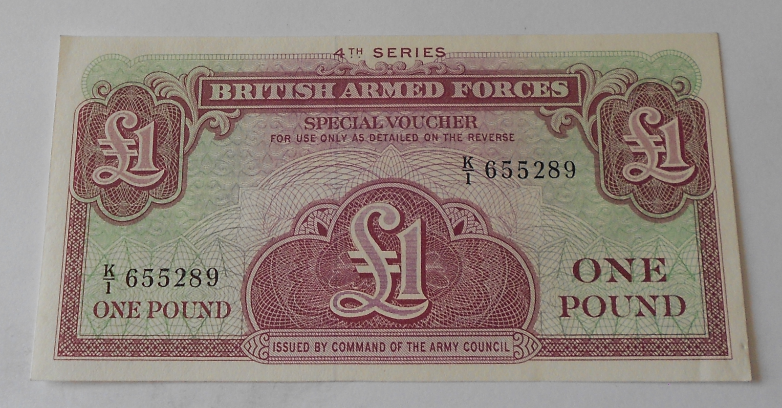 Velká Británie 1 Libra Vojenská poukázka