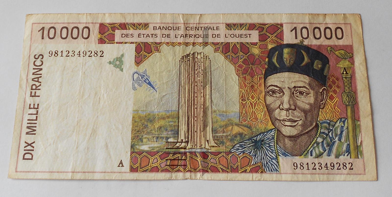 Východní Afrika 10 000 Frank