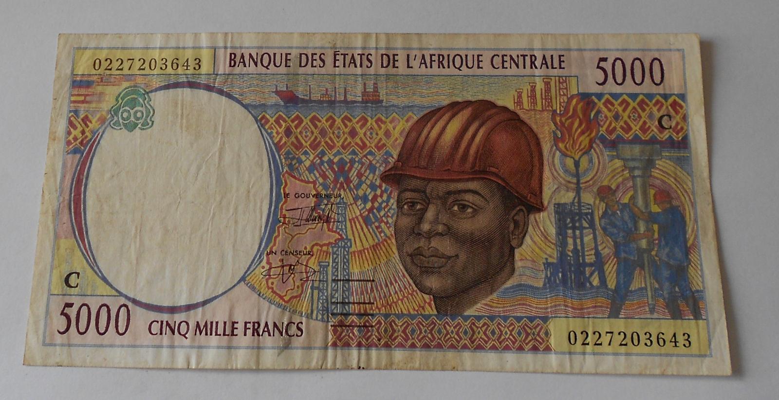 Východní Afrika 5000 Frank