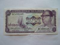 1 Dalasi, fialová+rolníci, Gambie