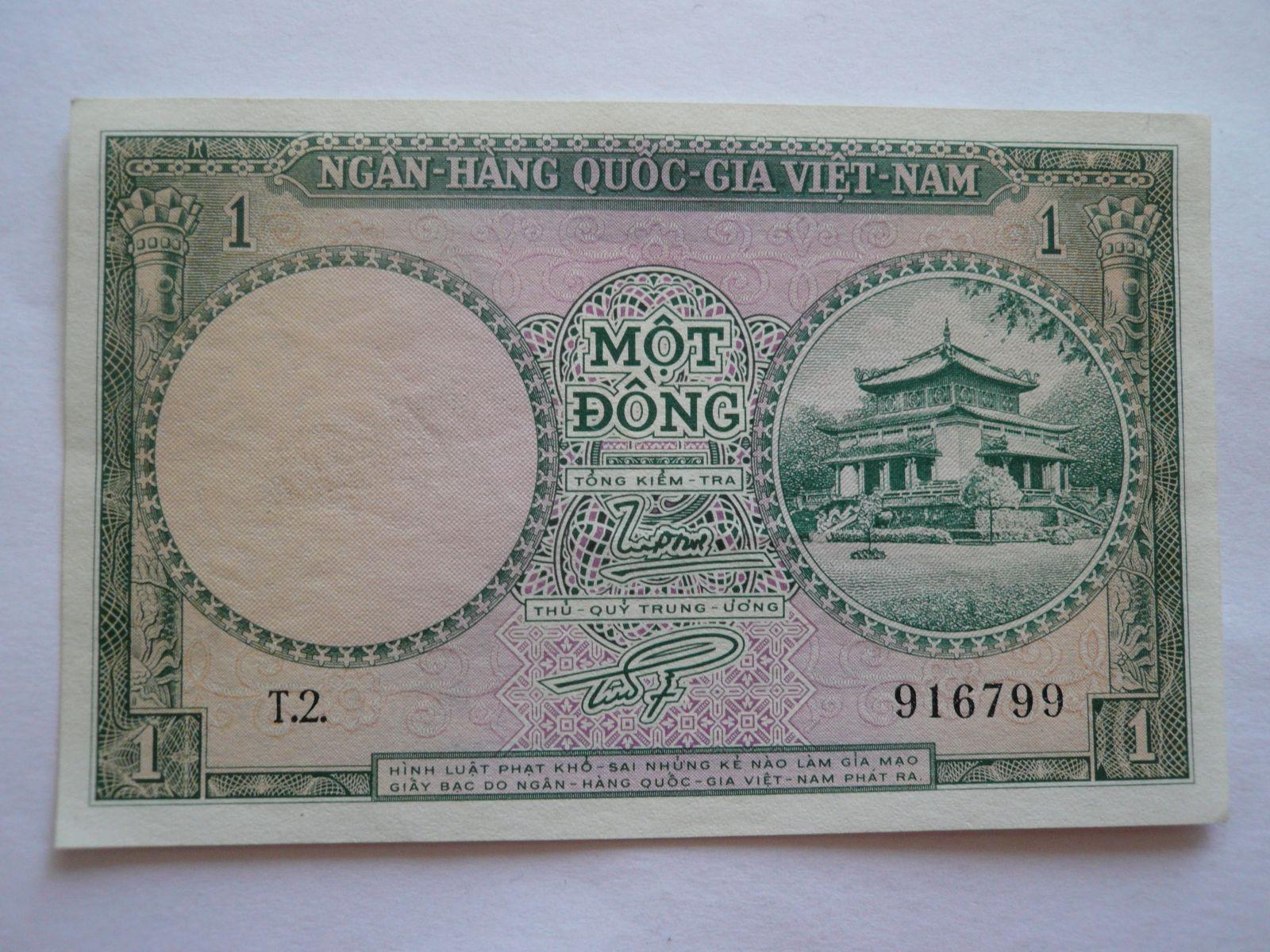 1 Dong, zelená, Vietnam