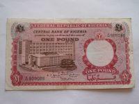 1 Pound, červená-domorodci, Nigerie