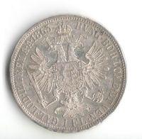1 Zlatník/Gulden (1863-ražba A), stav 1+/0 hr.