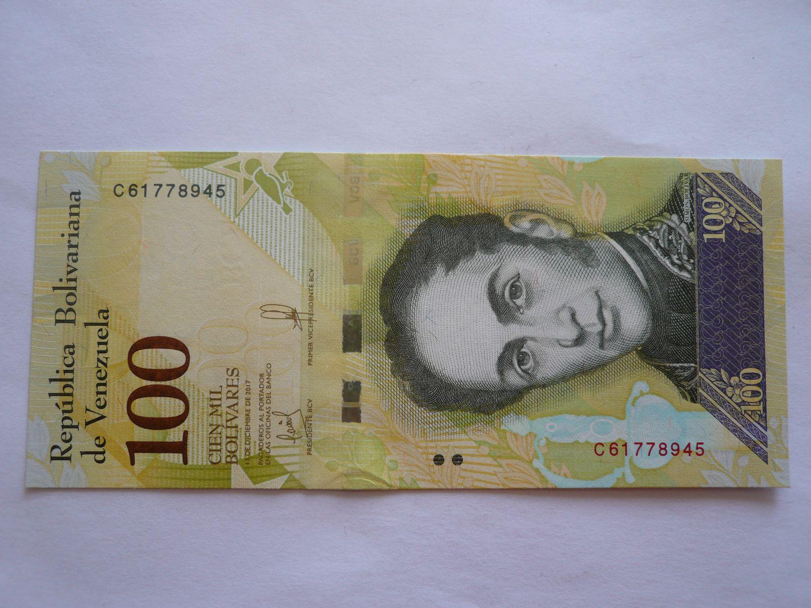 100 Bolivares, 2017, Venezuela